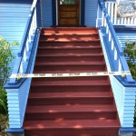 Wet paint to make the stairs picture perfect once more